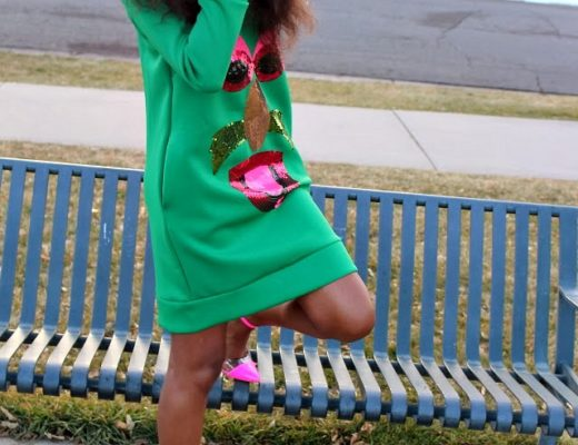 Green neoprene dress