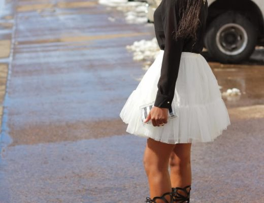 Full mini skirt outfit