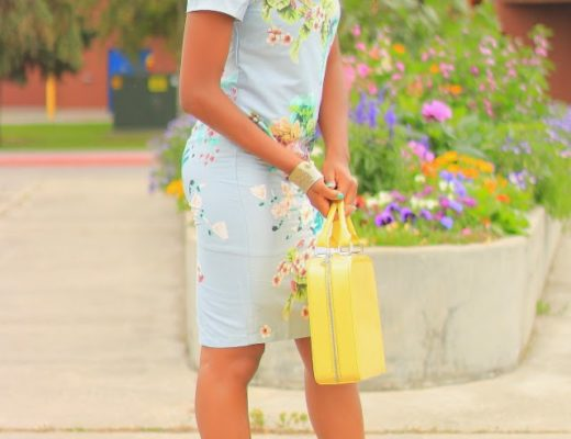 Floral office dress