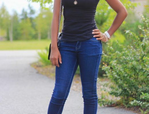 Casual denim outfit