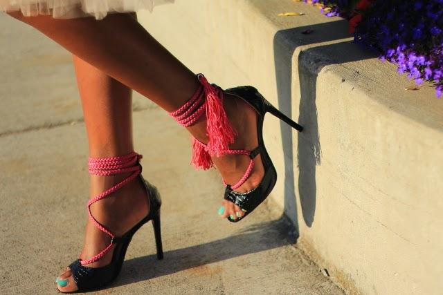 Boohoo tassel sandals