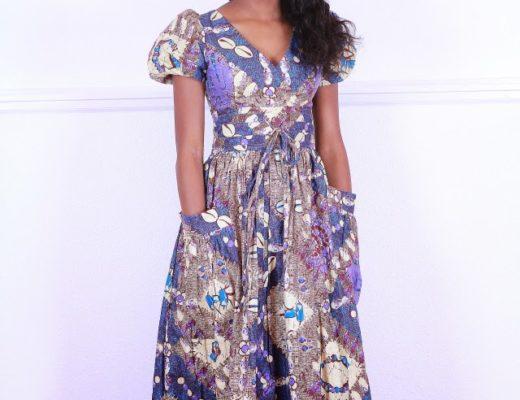 Ankara maxi skirt outfit