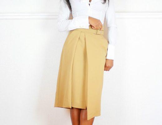Zara high split skirt