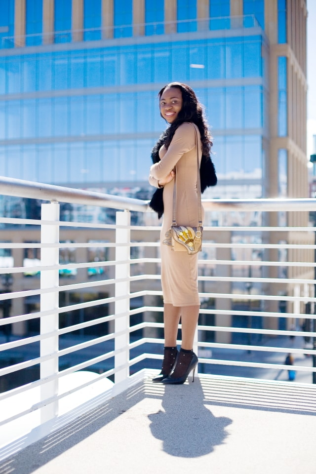 Bodycon midi dress, Alaska fashion blogger, bodycon dress, Nigerian, Fashion blogger, lace ankle socks