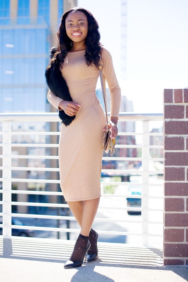 Bodycon midi dress, Alaska fashion blogger, bodycon dress, Nigerian, Fashion blogger