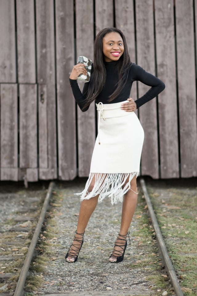 Fairbanks, Fashion blogger, Fashion blogs to follow, Nigerian blogger, beaded clutch, zara shoe, asos skirt