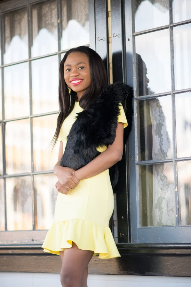 Style blogger, Asos peplum dress, Nigerian blogger