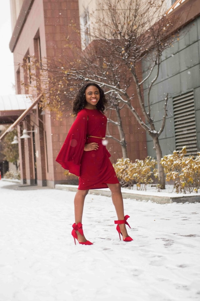 GCGme red cape dress, christmas ideas, christmas outfits, christmas party ideas, christmas present ideas, christmas shoes, christmas wish list, red dress boutique, red dresses