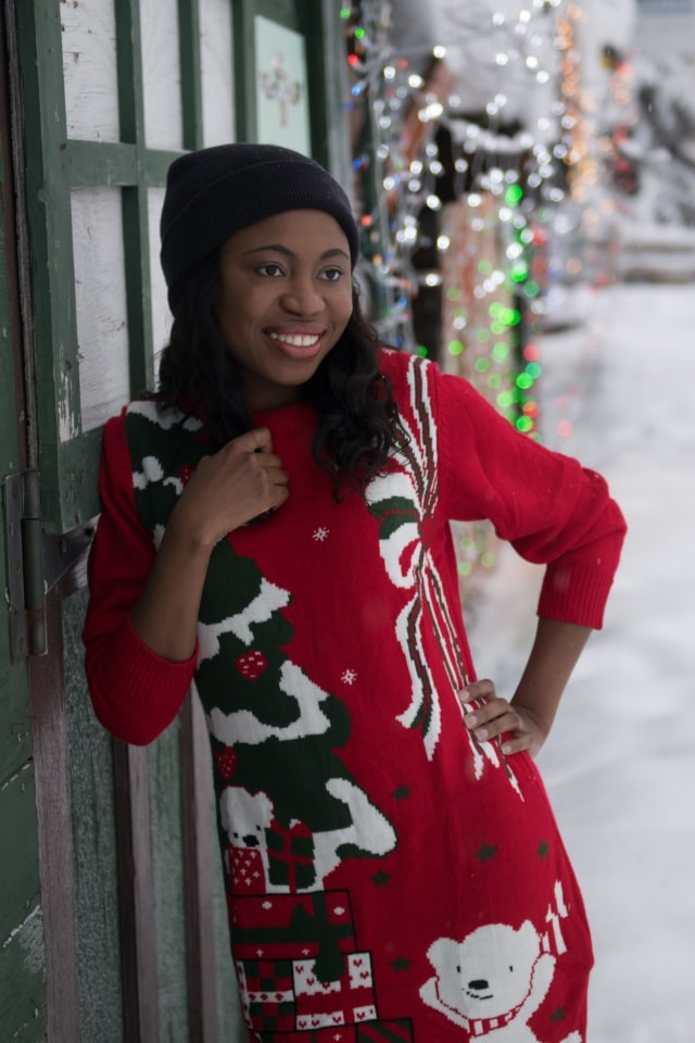 Winter Wonderland Ugly Christmas Sweater Outfit