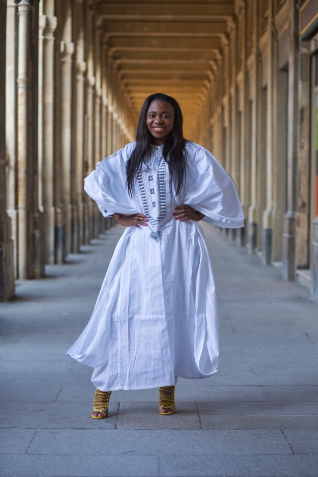 Check out how this Nigerian fashion blogger effortlessly styles a three-piece menswwear-inspired dashiki agbada.