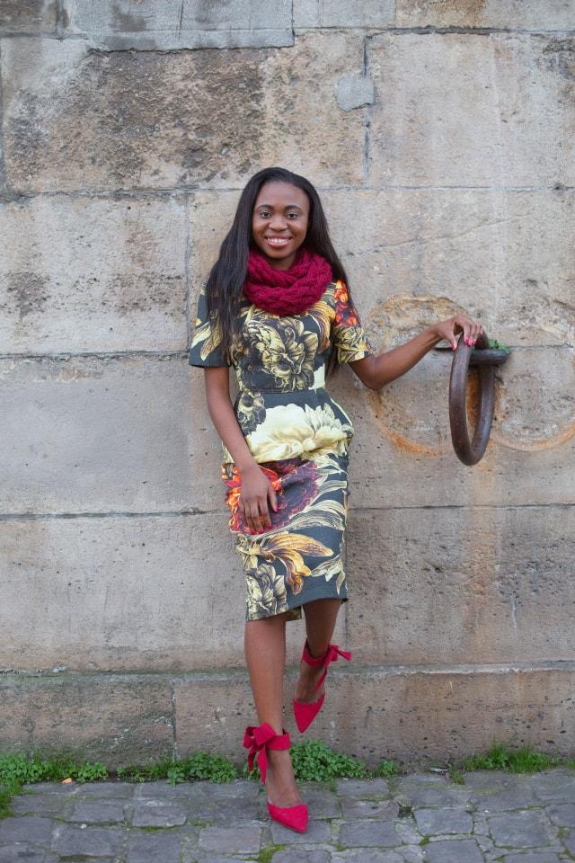 Asos floral wiggle dress