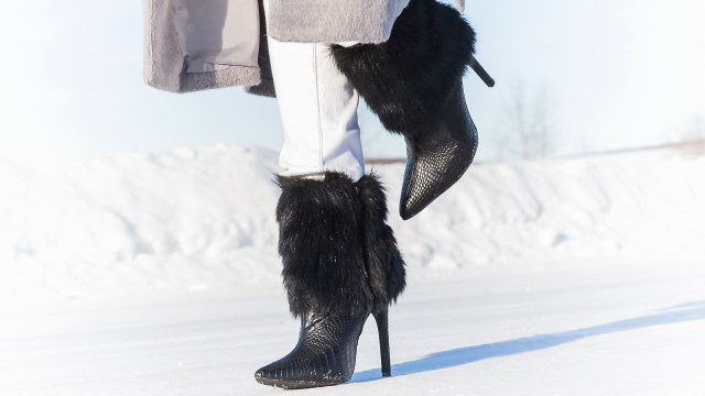 ShoeDazzle fur bootie