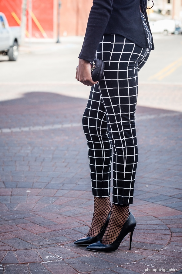 Styling a cute fishnet ankle socks with ankle pants