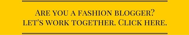 Fashion blogger collaboration