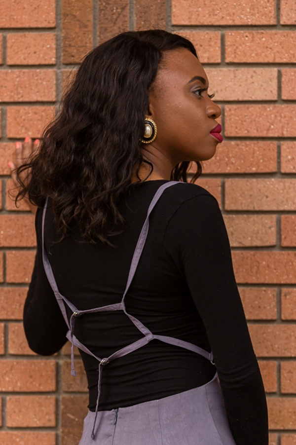 Bodysuit and skirt overall