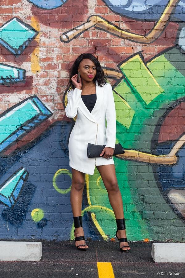 Miss bossy tuxedo blazer dress