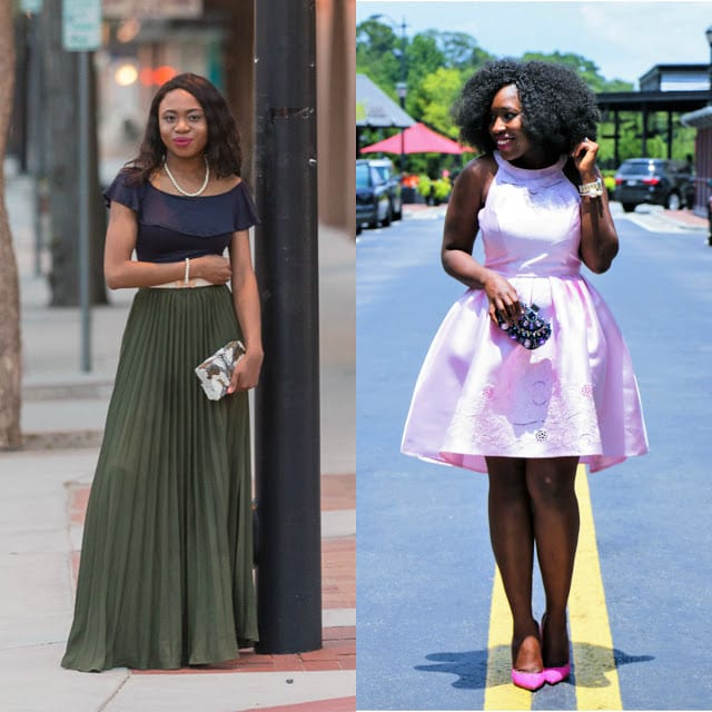 Two bloggers' take on what to wear as a wedding guest to summer weddings