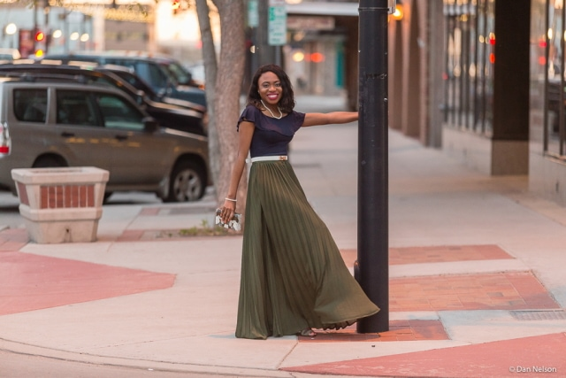Nothing feels more feminine than well fitted flowing maxi skirt. Wear this lovely pleated skirt for special events like weddings and graduations. Total game changer!