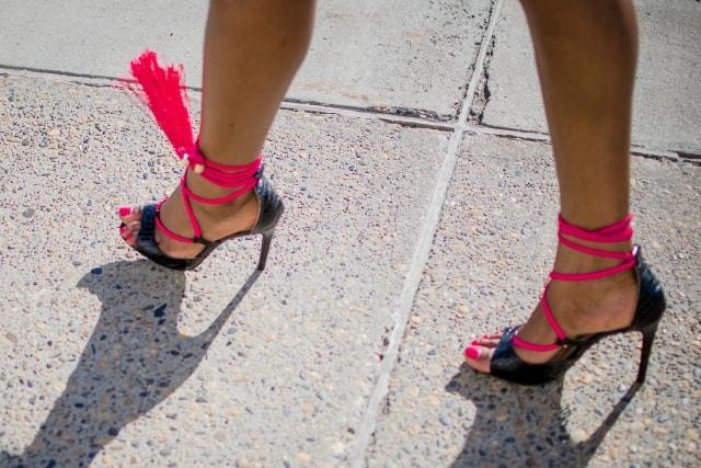 Tassel Open Toe Shoes