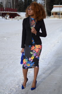Florals: Fitted Blazer + Bodycon Dress
