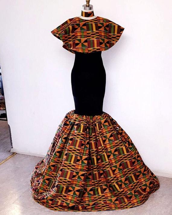 Kente African Prom Dresses