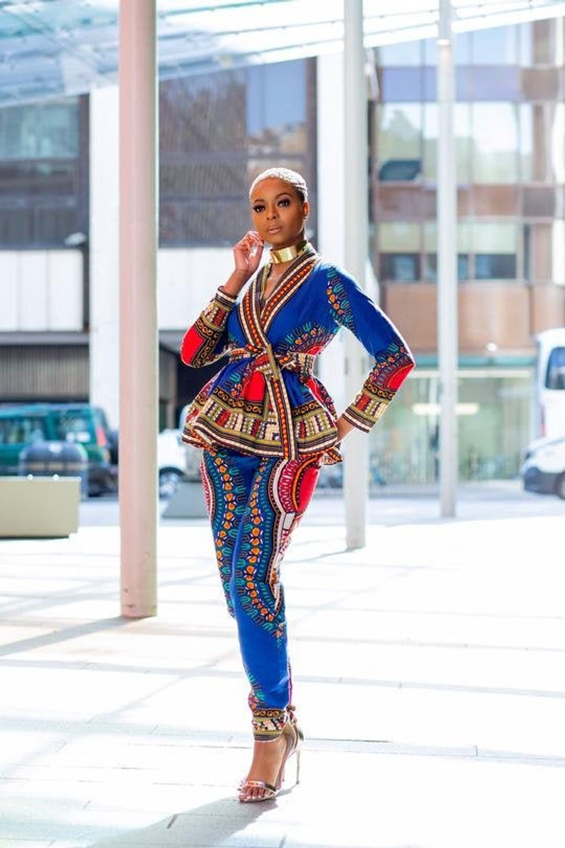 African Print Pant Suit