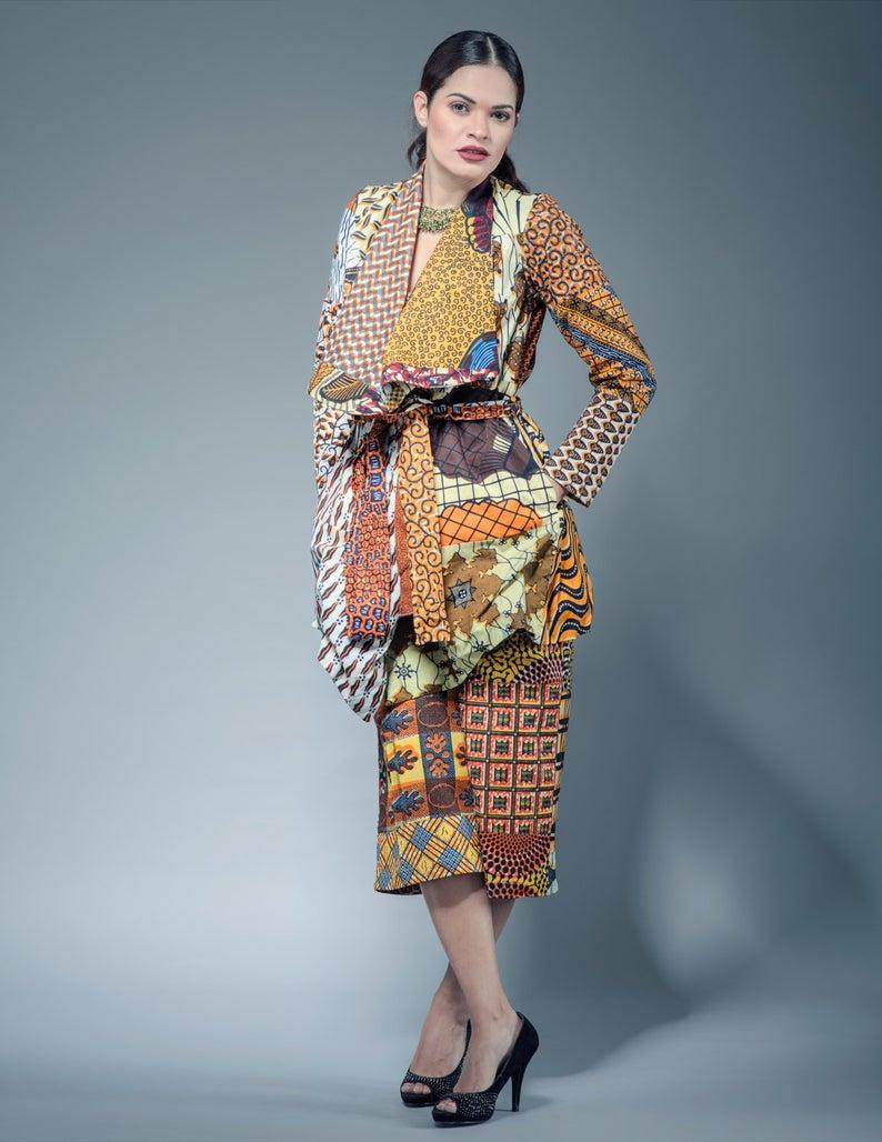 Multicolored Ankara Jacket