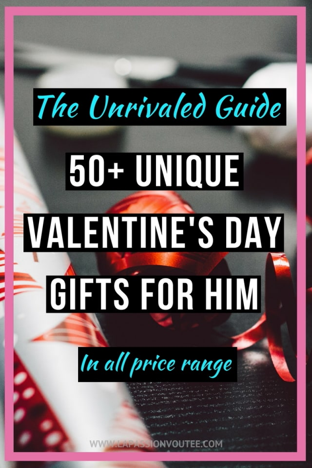 50+ unique Valentine's Day gifts for him | Check out this list for the best gift ideas for men that he'll love. Find the perfect gift for him that is within your budget regardless of how difficult it is shopping for him. Valentines day gifts for him | valentine gift ideas | valentine gifts for him | valentines gifts | valentines gifts for him | valentines gift ideas | valentines gift guide |