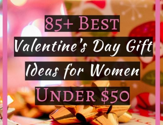 85+ Best Valentine's Day Gift Ideas for Women under $50 | In search of thoughtful and unique Valentine's Day gifts for her? Check out this post for over 85 aaffordable gifts for women that cost less than $50 plus most of these items ship free or almost free.