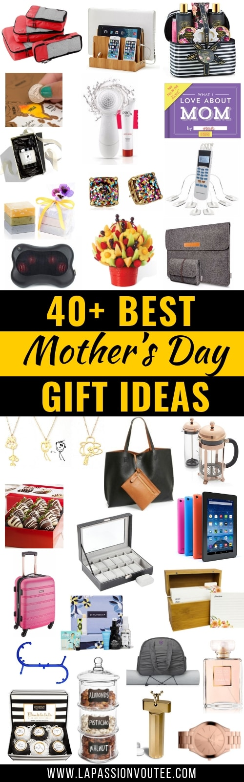 An epic roundup of the best Mother's Day gifts ideas from kids that you don't have to make. These gifts ideas for women are thoughtful and unique. They are great presents from adults that mom's would love. All about gifts for her, gift ideas for her, motherhood. #mothersday #giftideas #giftguide #giftforher #giftformom