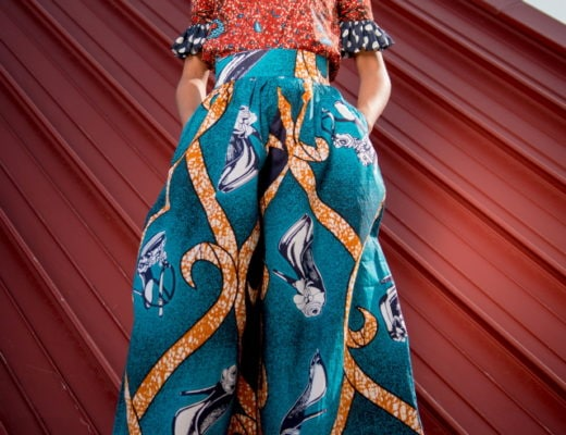 Finally an African print palazzo pants that looks just as chic as it is stylish. This blend of Ankara fabric and polka dot ruffles was done to perfection! Ankara | Dutch wax | Kente | Kitenge | Dashiki | African print dress | African fashion | African women dresses | African prints | Nigerian style | Ghanaian fashion | Senegal fashion | Kenya fashion | Nigerian fashion