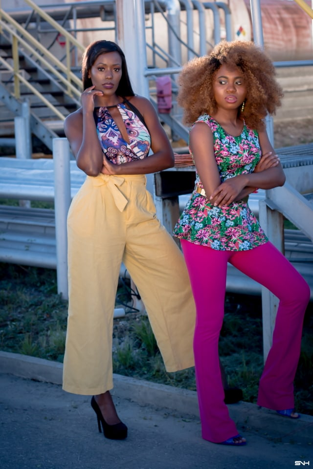 """Now, this is how you make a bold color statement! ? Love how these two melanin beauties nailed their bold color looks. From deep rich pink to mustard yellow and bright blue. They kept their makeup and accessories to a minimum. The essence of """"let your outfit do the talking."""" I would wear this outfit any day. Color Pop: How to rock bold colors this season. #ootd #melanin"""