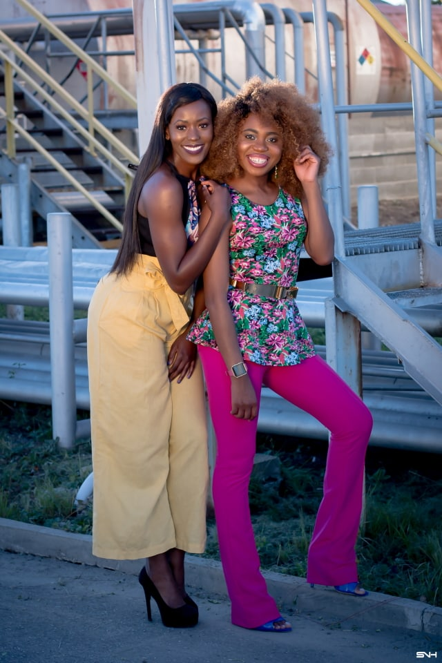 "Now, this is how you make a bold color statement! ? Love how these two melanin beauties nailed their bold color looks. From deep rich pink to mustard yellow and bright blue. They kept their makeup and accessories to a minimum. The essence of ""let your outfit do the talking."" I would wear this outfit any day. Color Pop: How to rock bold colors this season. #ootd #melanin"