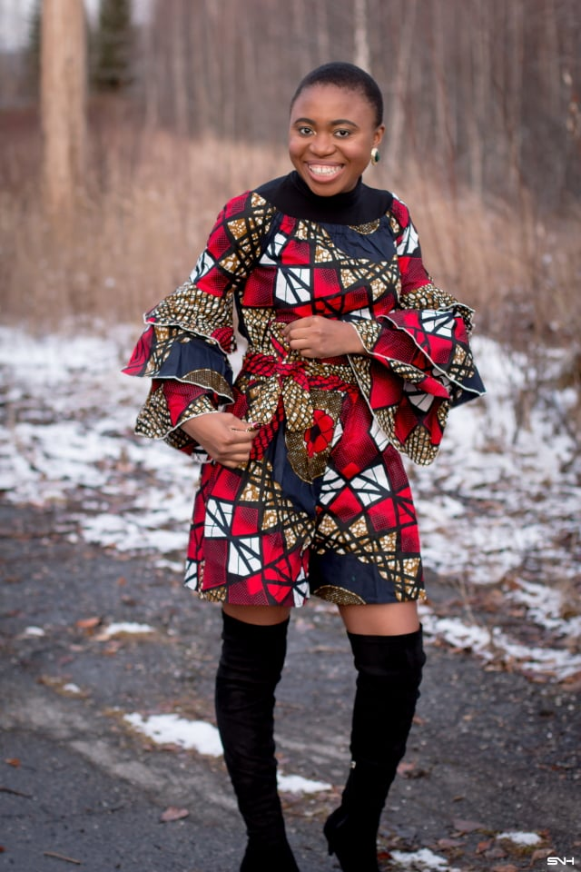 What a gorgeous way to restyle african print for the fall and winter! The unique combination of the OTK boots and turtleneck top makes this ankara playsuit enticing. Definitely trying this fall style soon. dutch wax, kente, kitenge, dashiki, African styles, African prints, Nigerian style, senegal fashion, ankara styles, african clothes, dashiki, african dress, african clothing, african print dresses, African dress styles, fallfashion, womens fashion #ankara #africanprint #kente