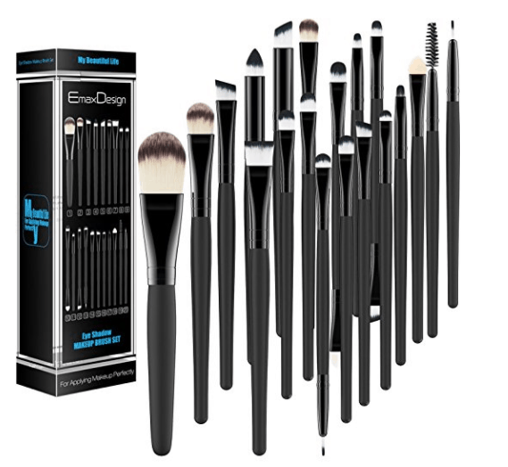 Sharing my best purchases of 2017 - all the products I love and would absolutely buy again in a heartbeat. These items are tried and true and come highly recommended! You'll be surprised by how inexpensive some of these items are. Emax Design 20 Pieces Eyeshadow Brush Set.