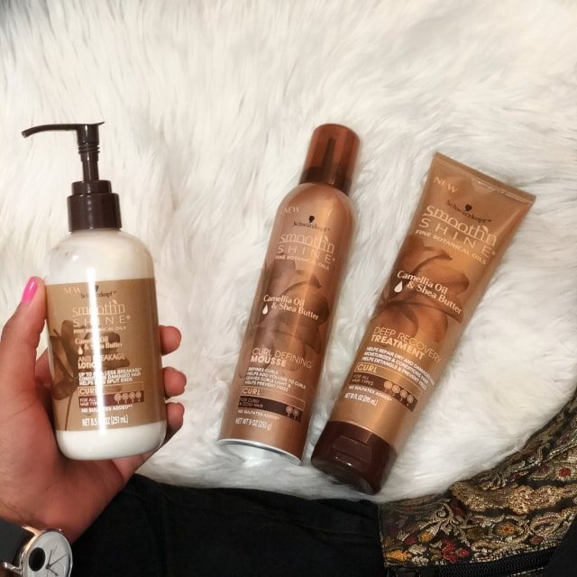 Beauty and skincare blogger, Louisa of La Passion Voutee shares a review and experience using the brand new Smooth 'N Shine Curl Line. Read on to find out why this reformulated line will make you happy! #haircare #blackbeauty