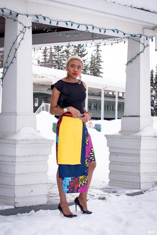 5938bdf9276 Day 14  Fashionable African Print Layered Skirt