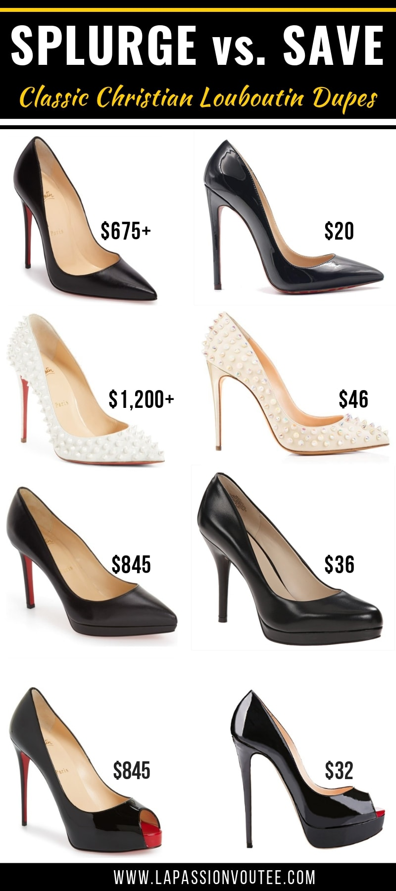 dd7ab3efe36 15+ Christian Louboutin shoe dupes you NEED in your closet! This is the  ultimate
