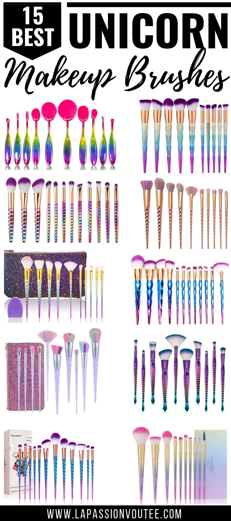 OMG, these are the absolute BEST unicorn makeup brushes on Amazon! Don't