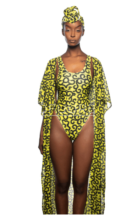 These bomb-ass African print swimsuits will make you wish you were heading to a tropical destination. And they're affordable too! Amaze everyone at the pool party, beach, and vacation rocking this Ankara Monokini by Ofuure.