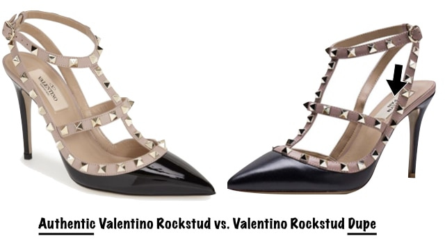 Authentic Valentino vs. Valentino Dupe