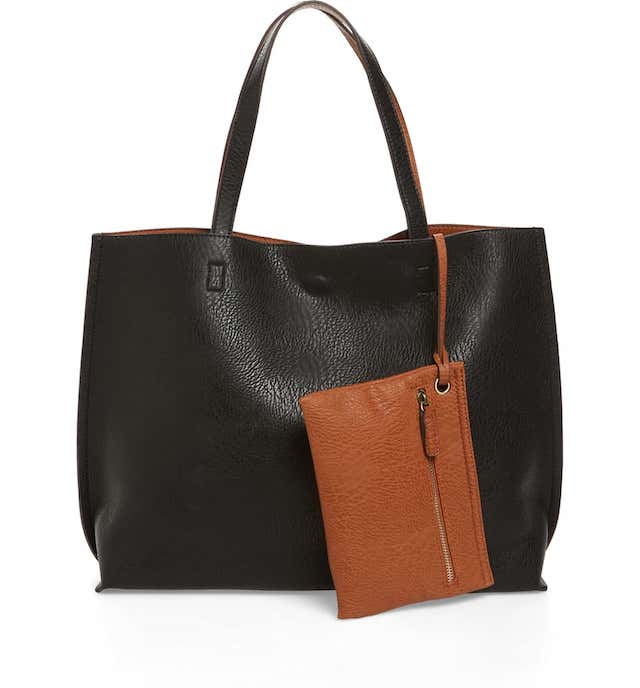 Street Level Reversible Faux Leather Tote & Wristlet. A complete review of the best travel tote bag and luggage sets. Everything from the best 2 piece luggage set, the best, 3 piece luggage sets and even the best carry on luggage set to get on Amazon.