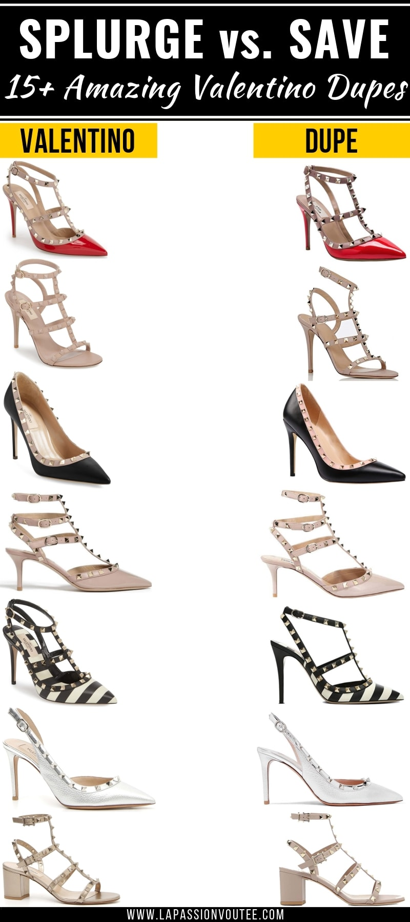 f76b198afa Looking for the BEST Valentino Rockstud dupes? This post features a roundup  of the best