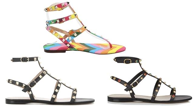 Valentino Rockstud Sandal look-alike