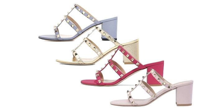 Valentino Rockstud Slide Sandal mule dupe