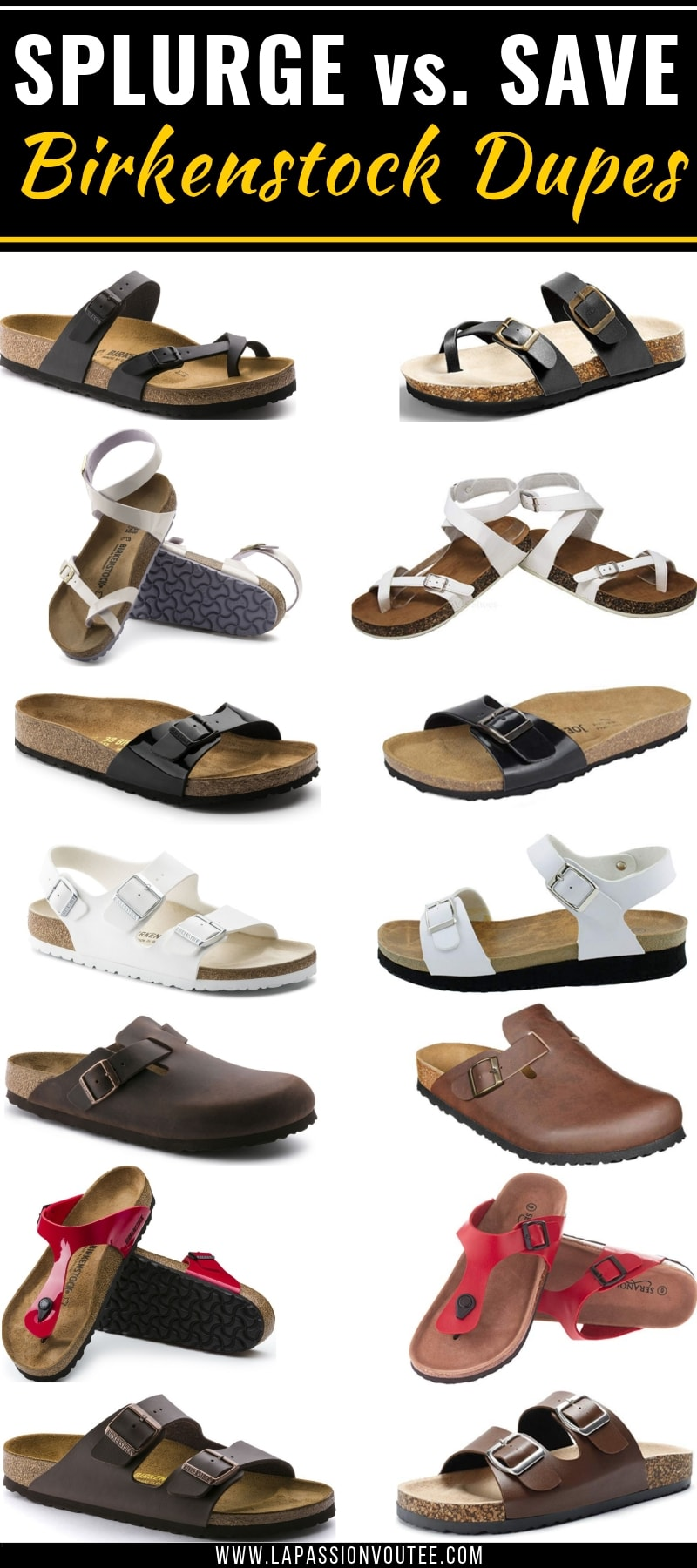 25+ Birkenstock look alikes and dupes that are way more affordable with the same quality and functionality as the original sandals. You're going to love these amazing alternatives to Birkenstock, you'll be back for more dupes! This post is all about the best designer dupes, Birkenstock gizeh, Birkenstock outfit, Birkenstock sandals, Birkenstock knockoffs, 3 sstrap sandals, Boston clogs.