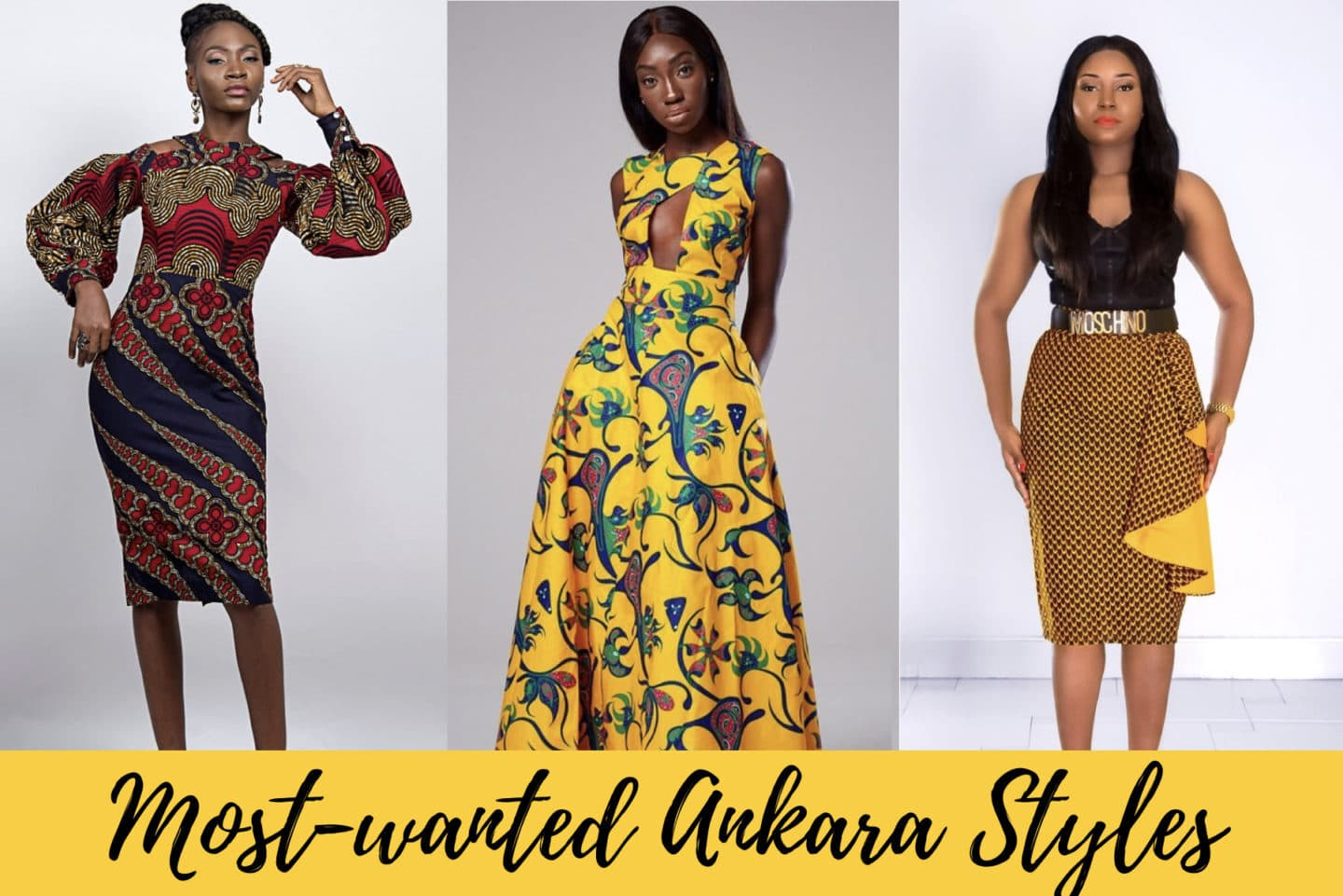 A roundup of the most stylish ankara styles to rock this year. Includes dresses, skirts, African print blouses and ankara rompers.