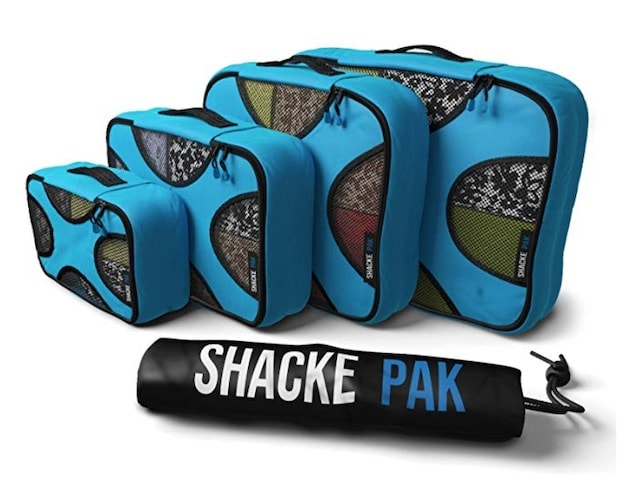 Shacke Pak Travel Organizers with Laundry Bag. A complete review of the best packing cubes and luggage sets. Everything from the best 2 piece luggage set, the best, 3 piece luggage sets and even the best carry on luggage set to get on Amazon.