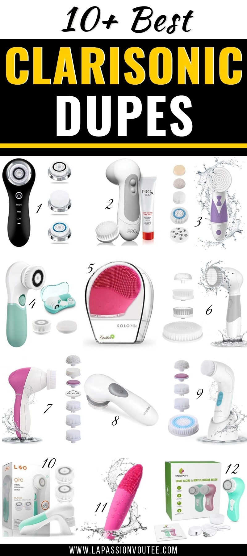 13 best dupes for Clarisonic! These are the best-selling, top-rated and most affordable Clarisonic dupes that will elevate your skincare routine. Bye-bye blackheads and pesky acne-flares!