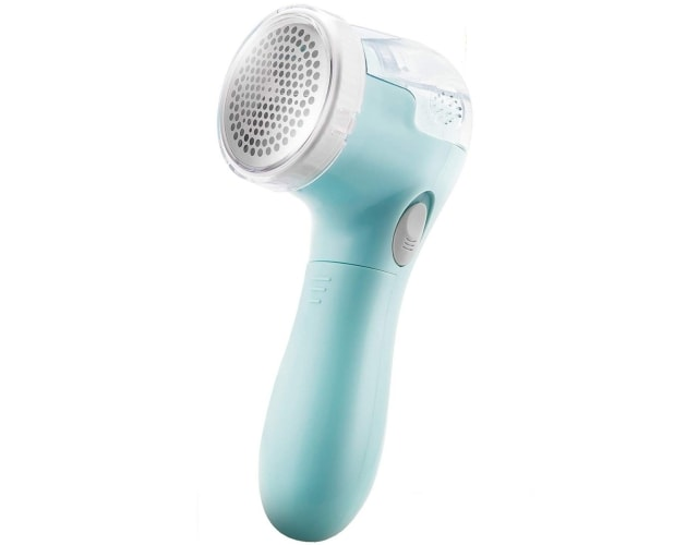 The Bojia lint remover and electric sweater fabric shaver has all the bells and whistles you might be looking for.